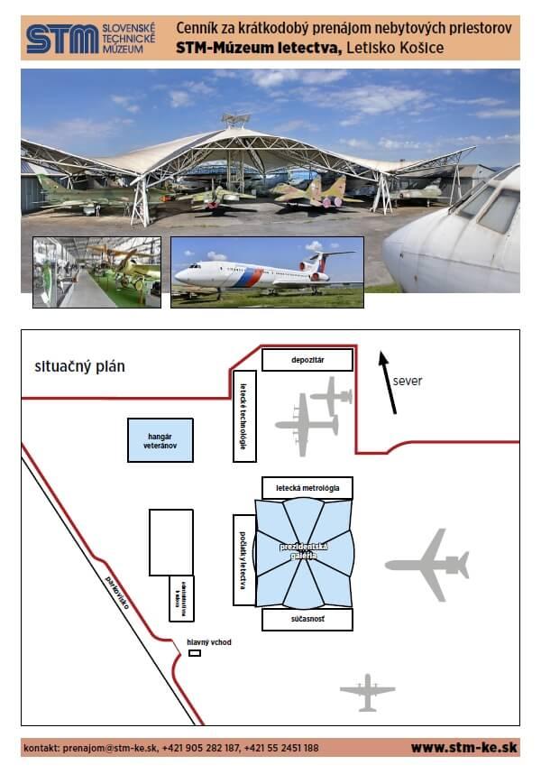 Prenájom priestorov Múzeum letectva